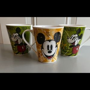 Bundle: NWOT Disney 3-Piece Ceramic Mug